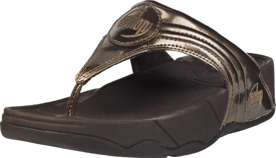 a4c74734b715 FitFlop Walkstar 3 Metallic Patent Sandals - Bronze