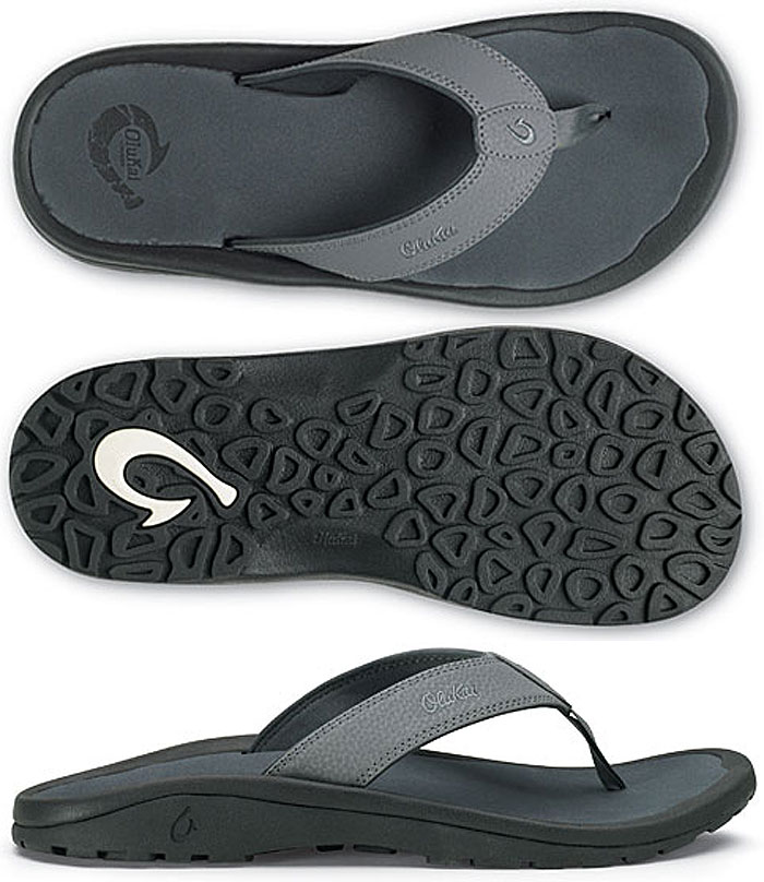 8cac6c1d09b Olukai Mens Ohana Sandals Charcoal Dark Shadow - Olukai Ohana Sandals - Olukai  Mens Sandals