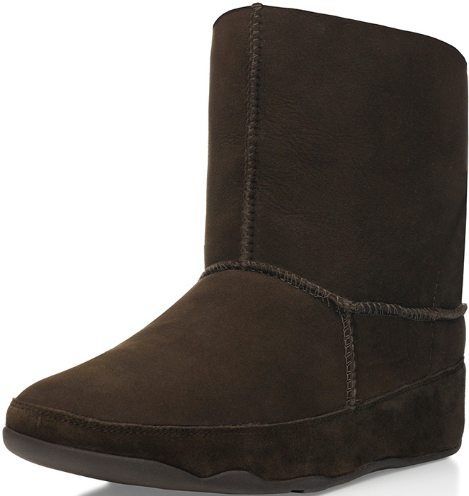 fitflop s mukluk boot chocolate