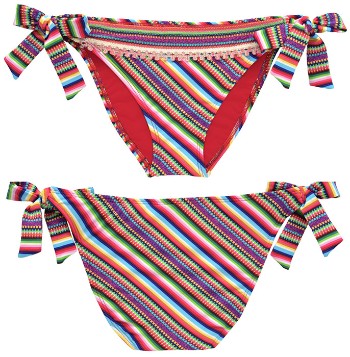 943433ee8ea3f Lucky Brand Swimwear - Lucky Brand Peruvian Spice Tie Side Hipster ...