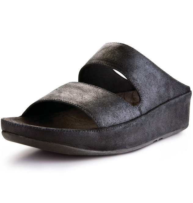 ab452f4ba237 Fitflop Lolla Crackle Sandals Black