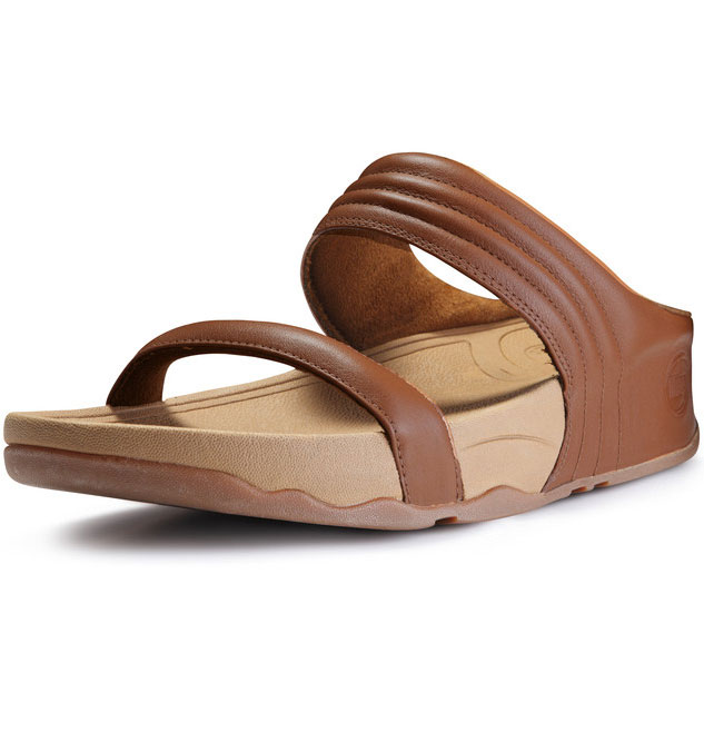 452bf1249 Fitflop Walkstar Slide Leather Sandals Tan