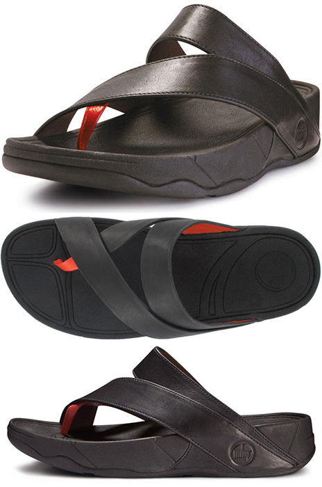 Black Sling Leather Fitflops Black Sling Leather Fitflop
