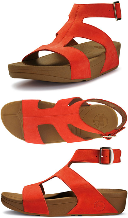 b0875bf805448 FitFlop Arena Sandals in Flame in Size 8