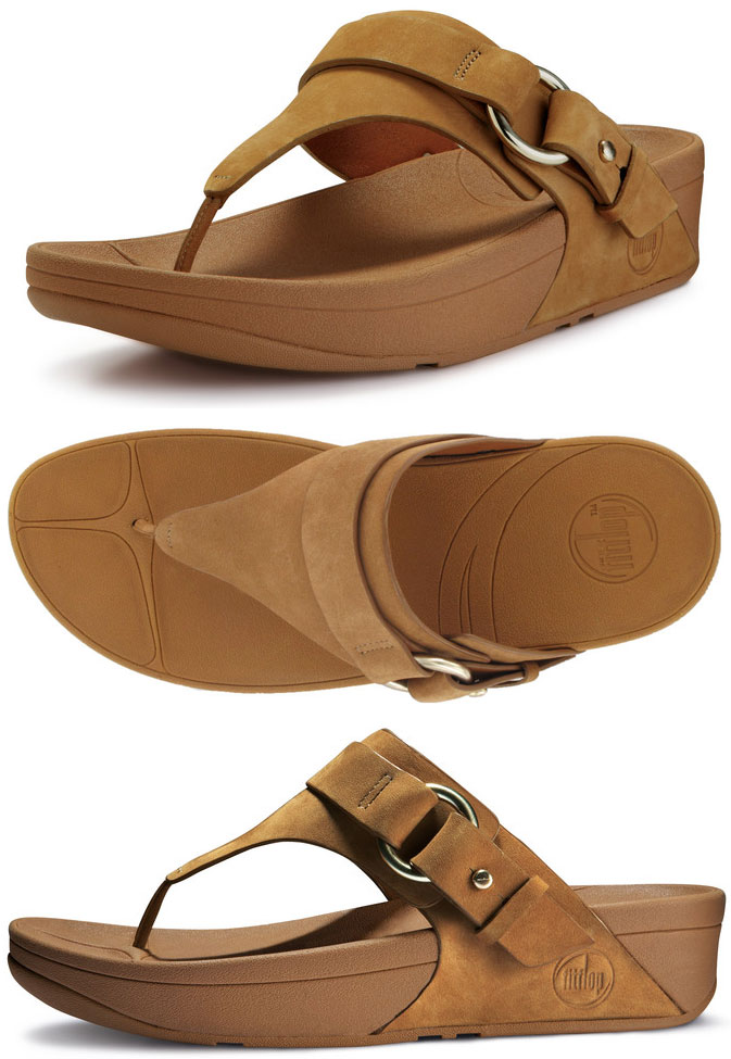 99cac328a183c4 FitFlop Via Sandals in Tan in Size 9 Only