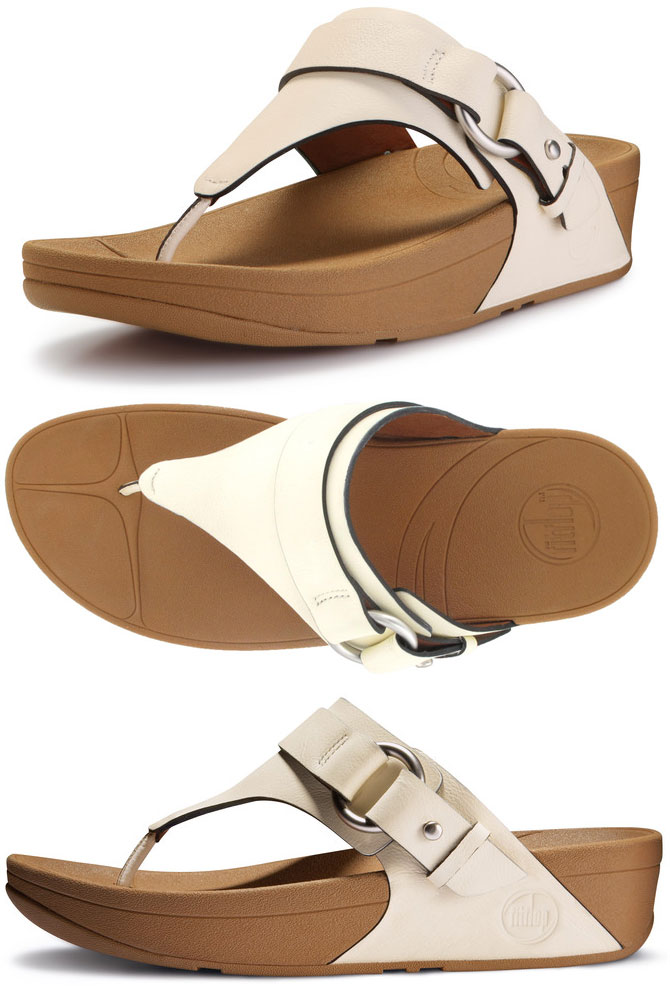 cc763e64ec9 FitFlop Via Sandals in Urban White in Size 10 Only