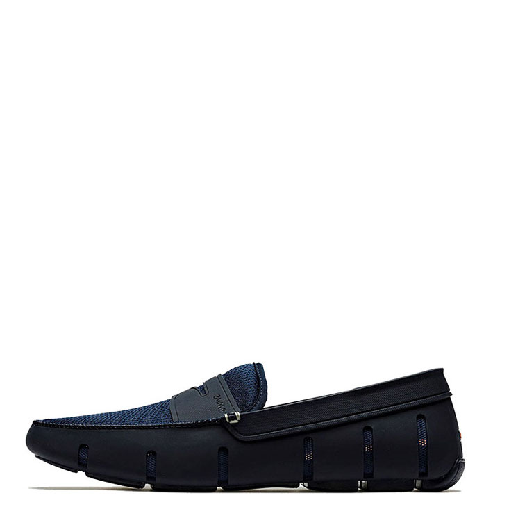 Swims Men S Penny Loafer Boat Shoes Navy