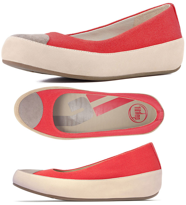 fitflop womens due canvas ballet flat