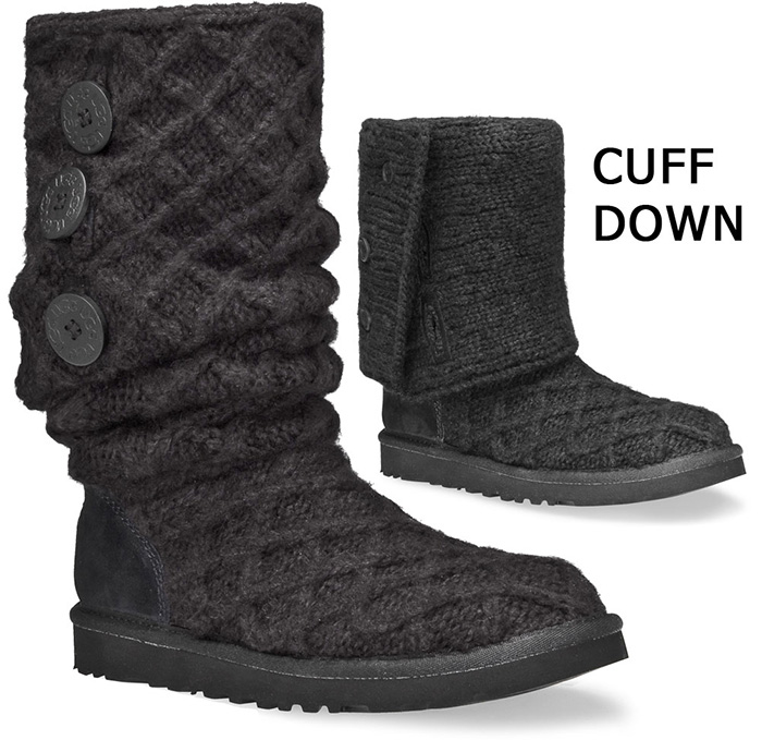 ea34e6db025 UGG Women's Lattice Cardy Boots - Black - Size 6 Only