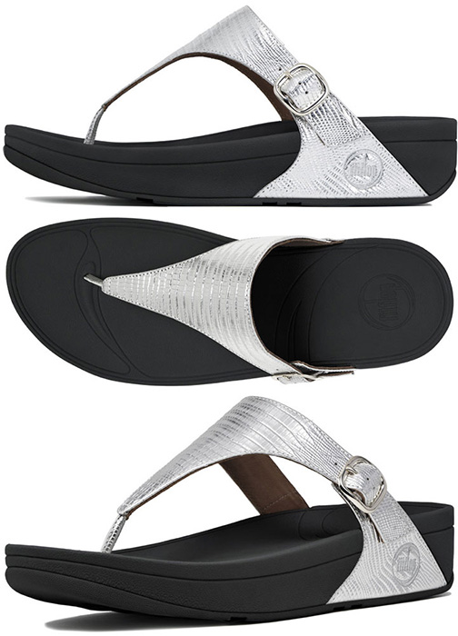 FitFlop ™ The Skinny Sandals - Silver