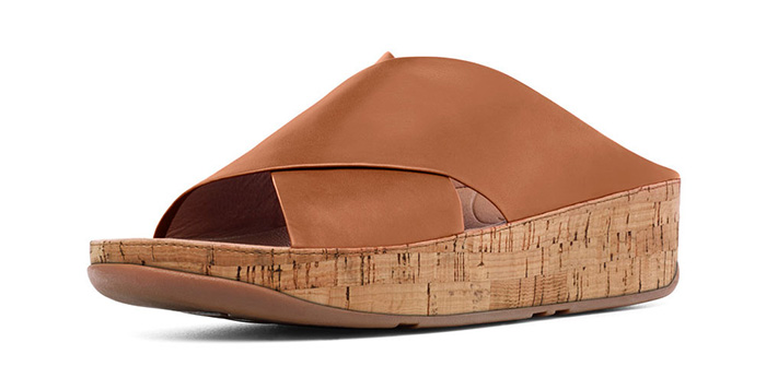 24bc428f7cfe81 FitFlop Women s Kys Leather Sandals in Tan - Free 2 Day Shipping on ...