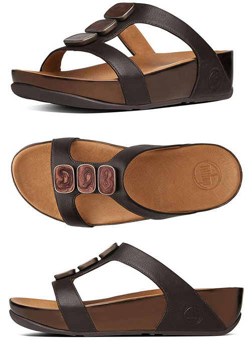83fc9157c FitFlopª Pietra II Slide Sandals in Chocolate Brown - Free Shipping ...