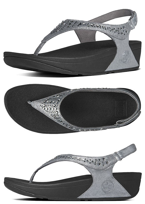 e3bee474fce1 Pewter FitFlop Women  s Novy Backstrap Sandals - Free Shipping
