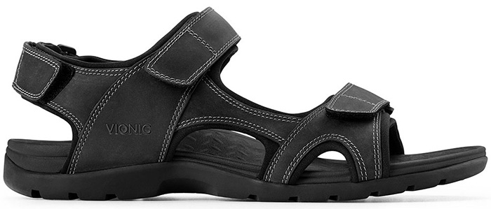 9160ba0f2cc1 Black Vionic Men s Gerrit Backstrap Sandals - Free Shipping