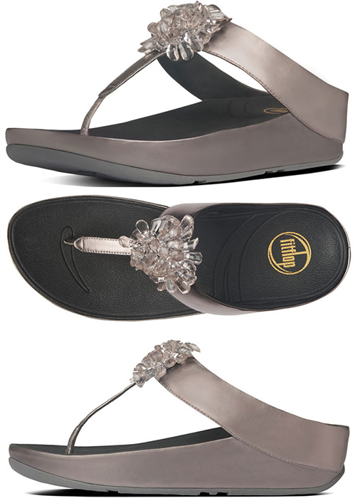 4bba53607cc Pewter Fitflop Blossom Sandals - Free Shipping