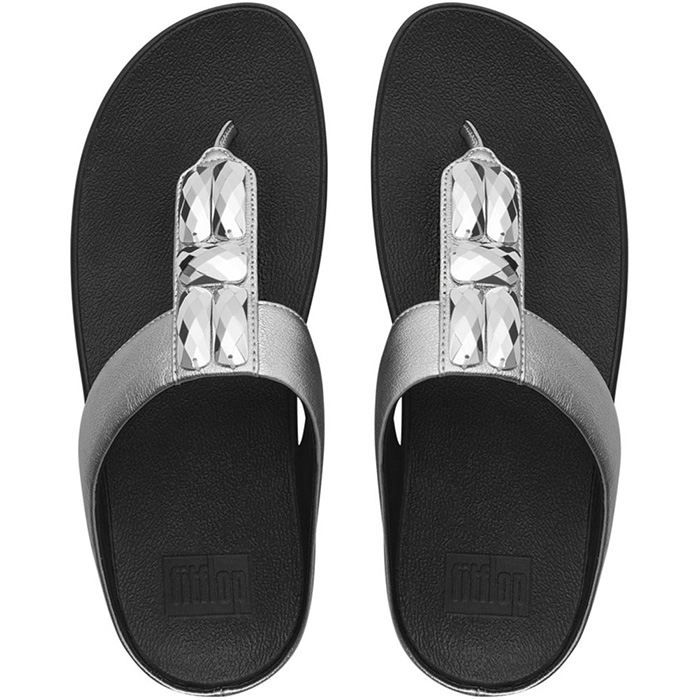 3126e4bac14d4d FitFlop Sweetie Sandals Silver