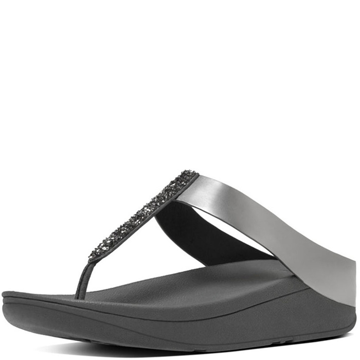 3ff4f8732f8 FitFlop Fino Sandals - Pewter