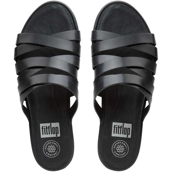 FitFlop Lumy Leather Slide Sandals