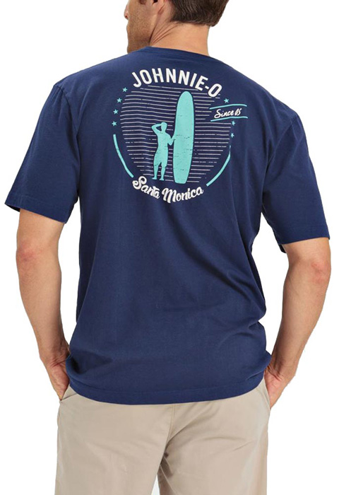 Johnnie o old school t shirt in navy for Old navy school shirts