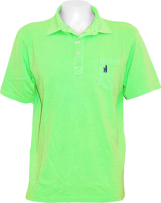 Johnnie o four button polo shirt neon green johnnie o for Neon green shirts for men