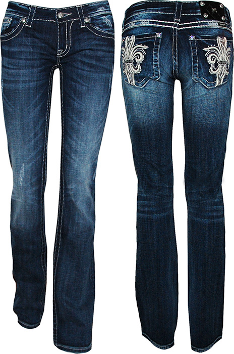 miss me fleur de lis boot cut jean miss me jeans miss. Black Bedroom Furniture Sets. Home Design Ideas