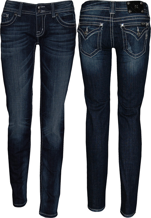 Womens Flap Pocket Jeans