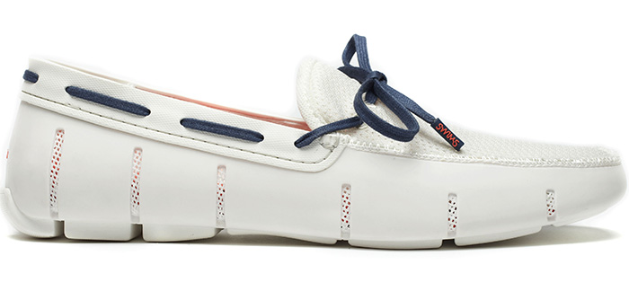 Mens White Polo Boat Shoes