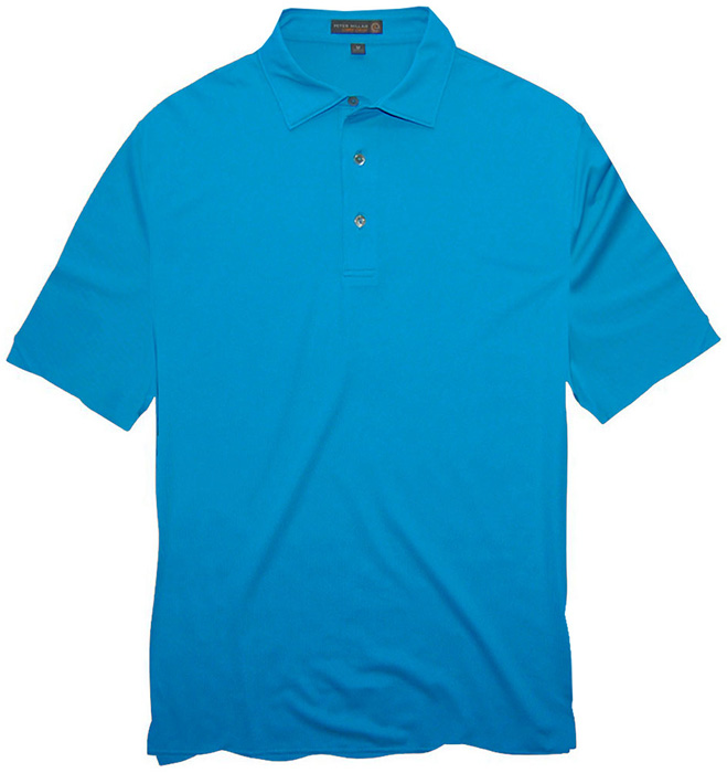 Peter millar e4 solid jersey performance polo shirt in for Peter millar women s golf shirts