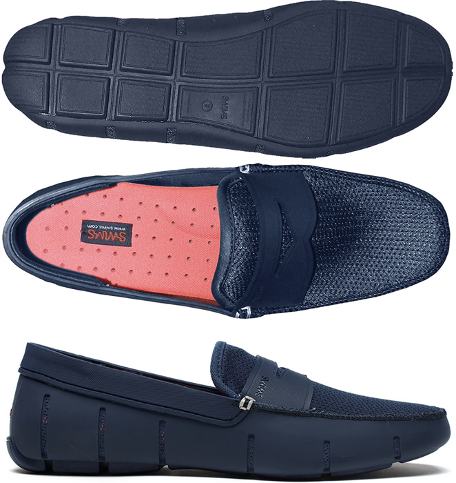 ebbeeff0a SWIMS Men s Penny Loafer Boat Shoes in Navy