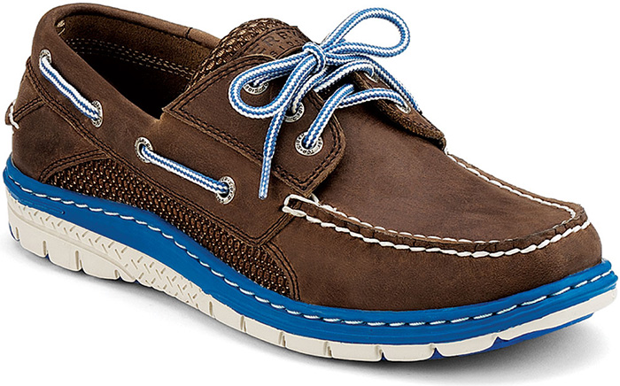 mens blue sperry boat shoes