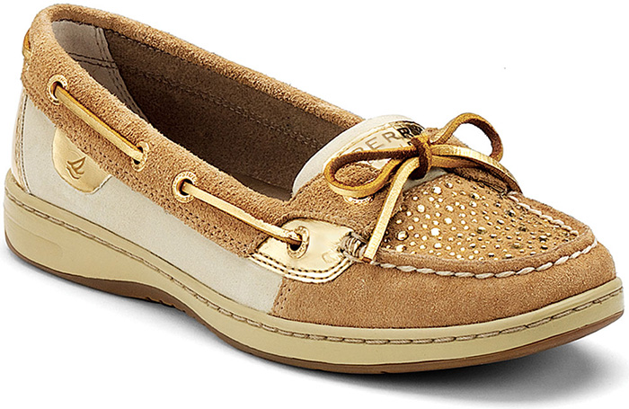 Sperry Top Sider Women S Angelfish Boat Shoes Pewter Charcoal Glitter