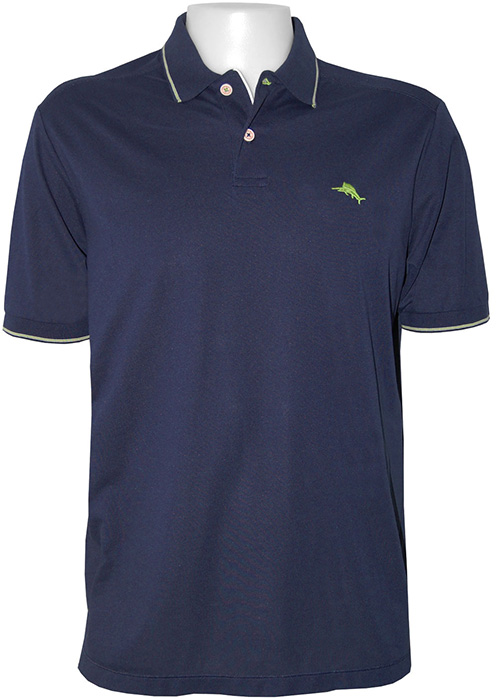 Tommy bahama island lite polo polo shirt in black for Tommy bahama polo shirts on sale