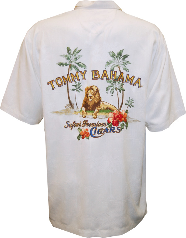 Tommy bahama safari premium cigars camp shirt for Tommy bahama polo shirts on sale