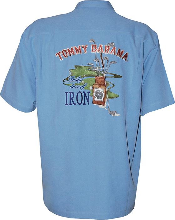 Tommy bahama daily dose of iron signature camp shirt for Tommy bahama polo shirts on sale