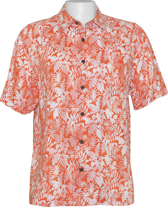 tommy bahama mens palma sola camp shirt lt tangelo tommy