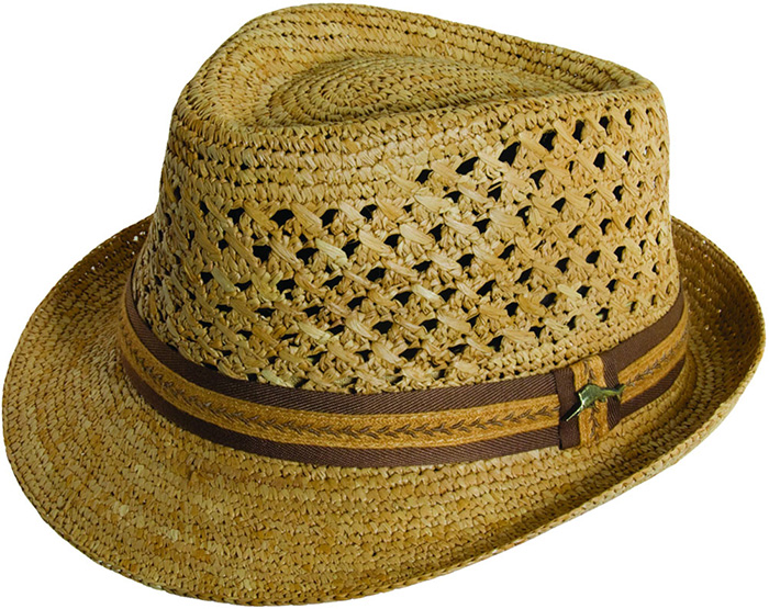 Tommy Bahama Men s Crocheted Raffia Fedora 315ebe06e95c