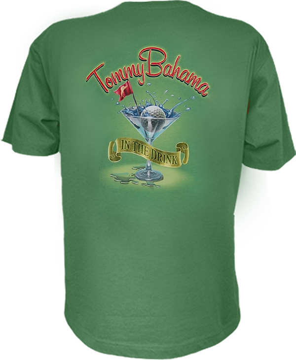 Tommy bahama in the drink t shirt for Custom tommy bahama shirts