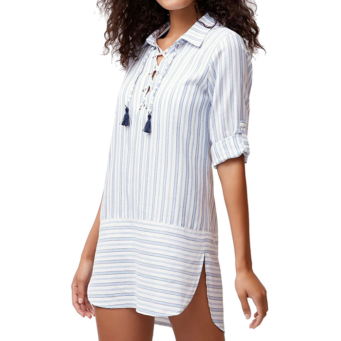 6d9d0c206bfbb Yarn Dye Ticking Boyfriend Shirt Cover Up by Tommy Bahama by Tommy ...