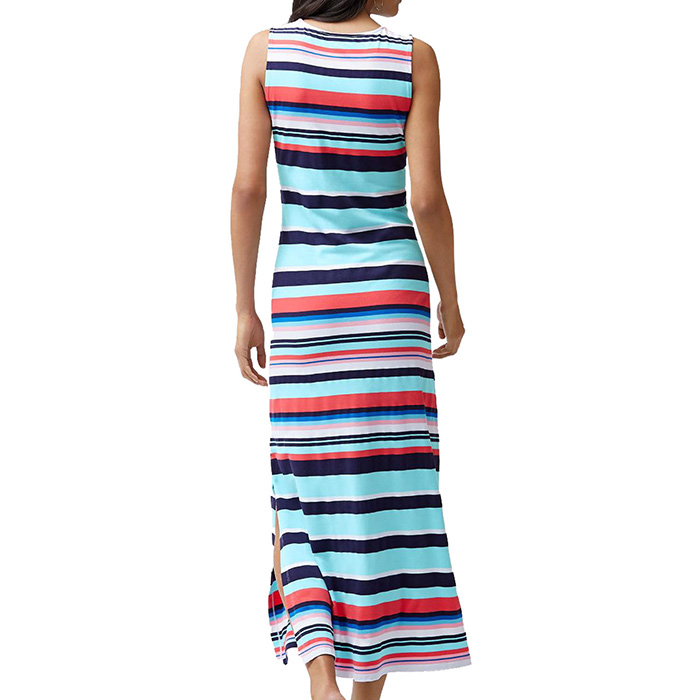 09c760b4acd9c Sporting Stripe-Maxi Dress Cover Up in Swimming Pool Blue by Tommy ...