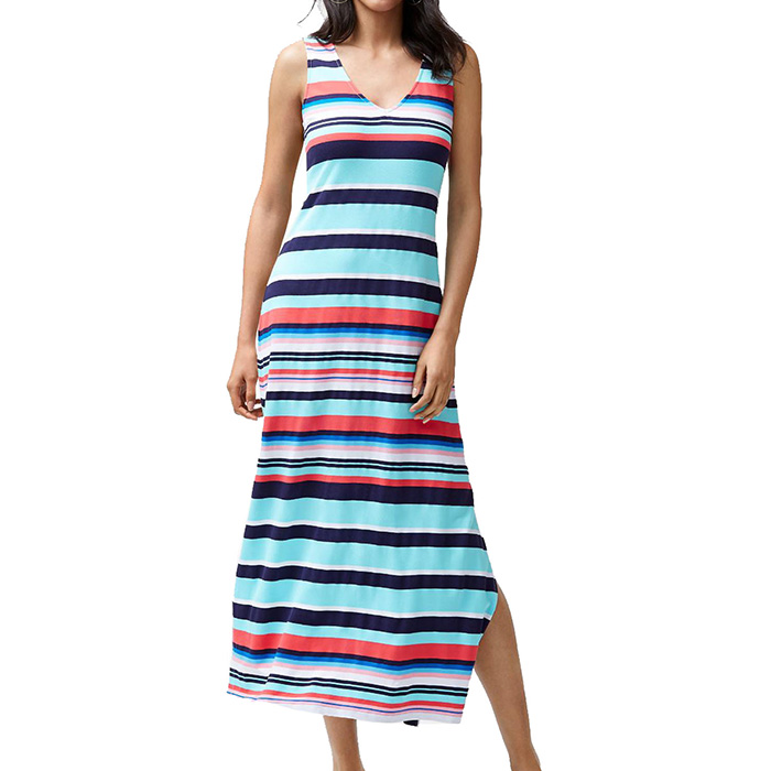 5efce9d3d55 Sporting Stripe-Maxi Dress Cover Up in Swimming Pool Blue by Tommy ...