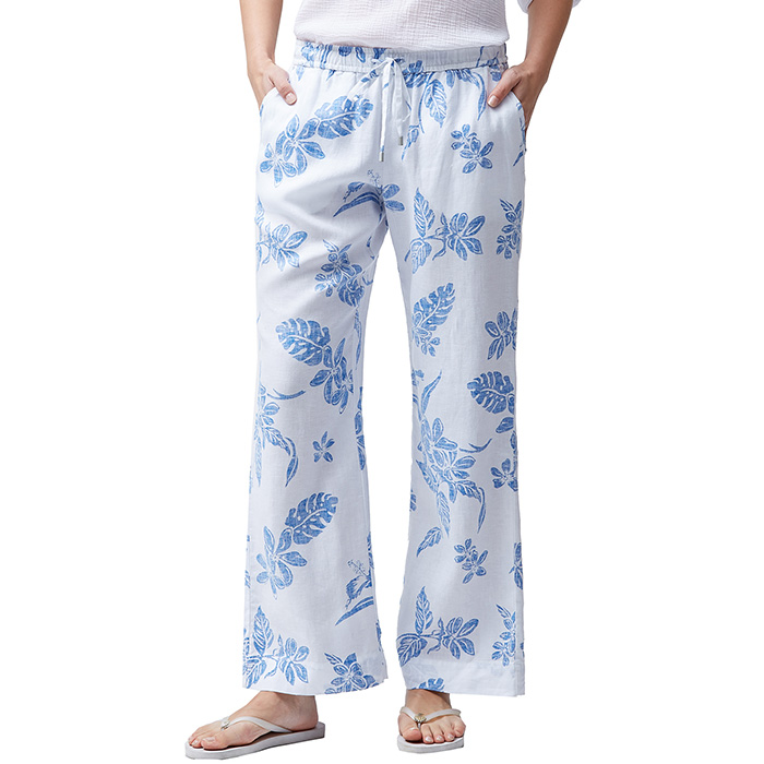 53fe949a Linen Pants for Women | White and Blue Pants | Island Trends