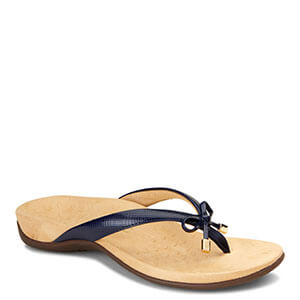 abc5d68a9384 Vionic Bella II Bow Tie Sandals in Navy Lizard - Free Shipping and Gift  with Purchase