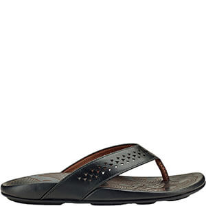 Black Men's Sandals Olukai Men's Kohana Olukai Kohana Olukai Sandals Black K1J3TlcF