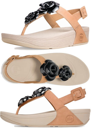 fitflop floretta black & tan