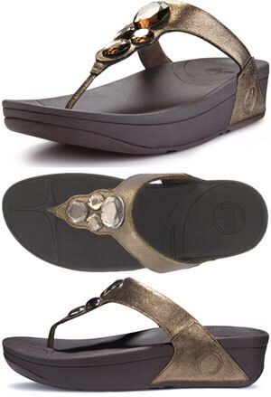 fitflop lunetta bright bronze finish