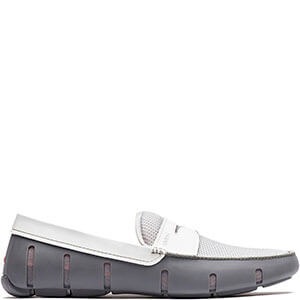 c8e72a50952 SWIMS Mens Penny Loafer Shoes in Gray and White