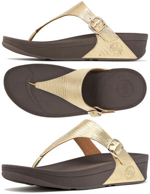 165de6ac5a021c FitFlop The Skinny Sandals Gold - Free Shipping and Gift with Purchase
