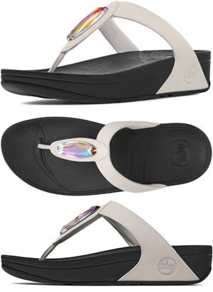 1c05c5981c5817 FitFlop Chada Leather Sandals Urban White - Free Shipping and Gift with  Purchase