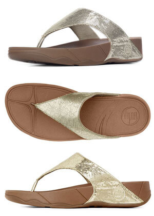 739c82072 FitFlop Lulu Lustra Sandals in Pale Gold - Free Shipping on Purchase of 95