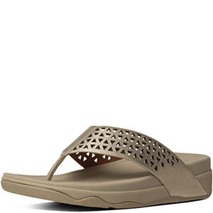 4dbc235b3ea Pale Gold FitFlop ™ Leather Lattice Surfa Sandals - Island Trends